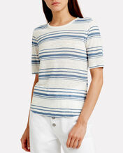 70's Striped Linen T-Shirt, MULTI, hi-res