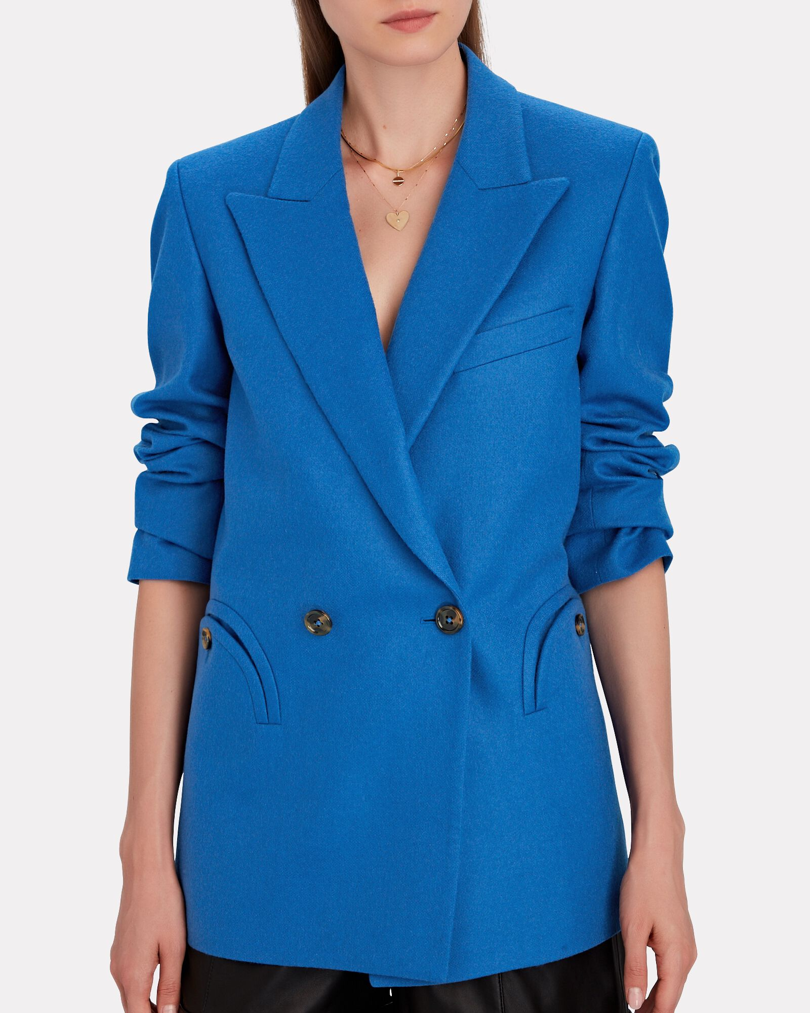 Palmira Everynight Double-Breasted Blazer, BLUE, hi-res
