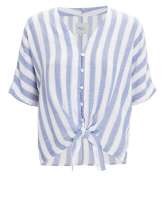 Thea Blue Striped Top, BLUE/WHITE/STRIPES, hi-res
