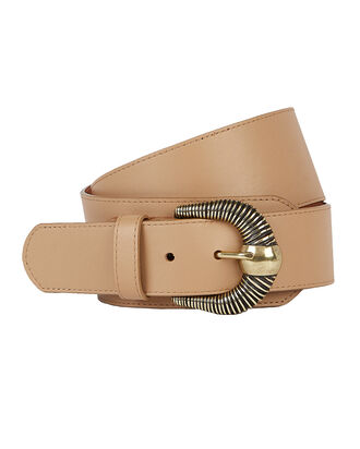 Western Leather Corset Belt, BEIGE, hi-res