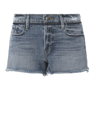 Le Cut Off Wetherly Place Shorts, DENIM, hi-res