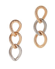 Raffina Two-Tone Link Earrings, MULTI, hi-res