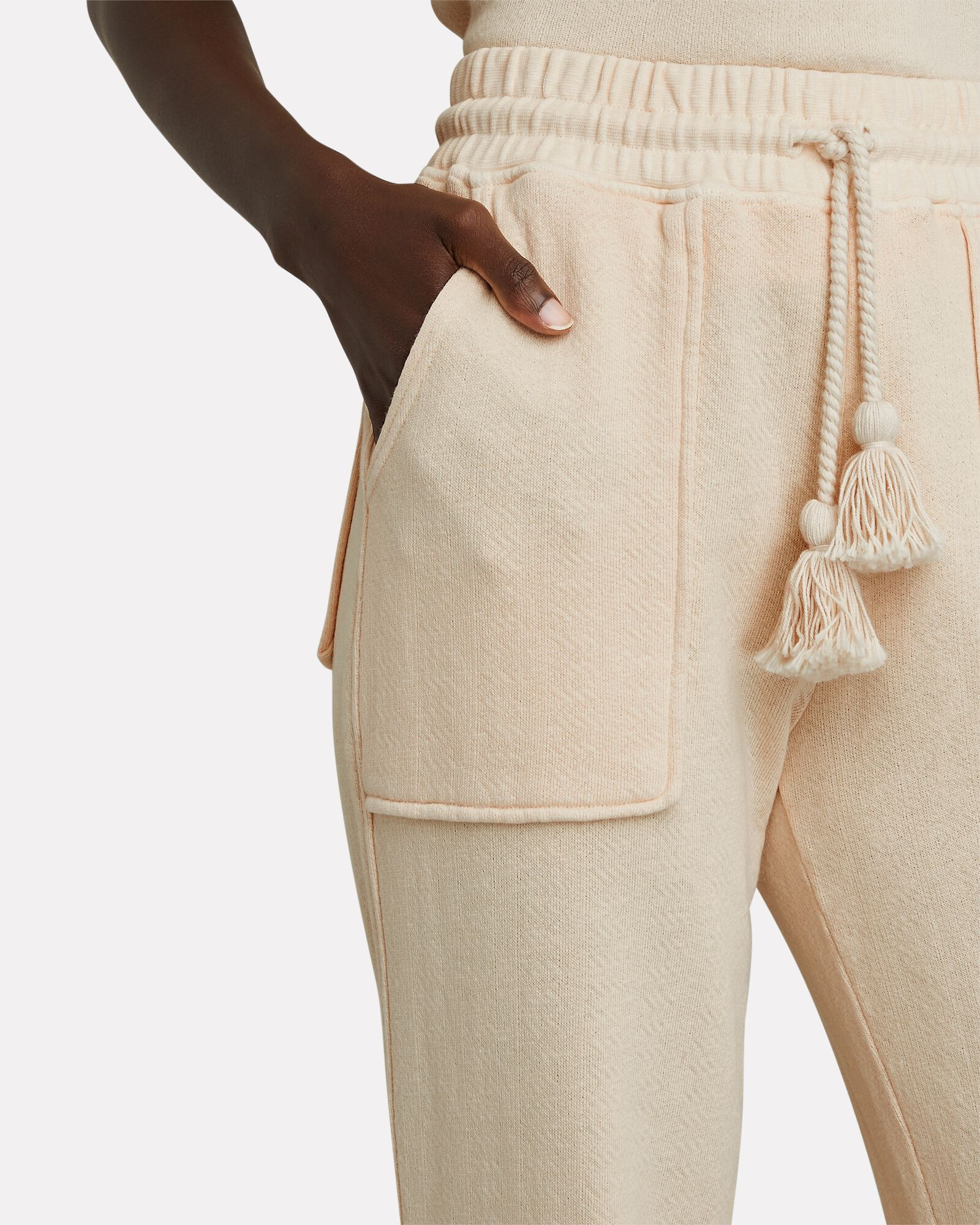 Charley Knit Fleece Joggers, IVORY, hi-res