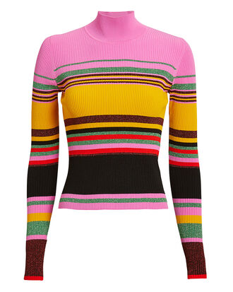 Dara Stripe Sweater, PINK/YELLOW/STRIPE, hi-res
