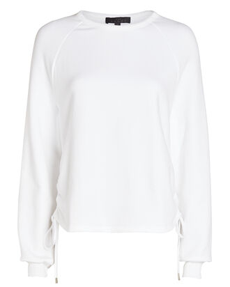 Element Gathered French Terry Sweatshirt, WHITE, hi-res