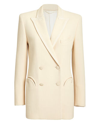 Resolute Double-Breasted Blazer, IVORY, hi-res