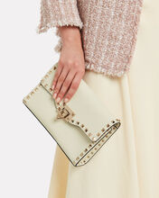 Medium Rockstud Leather Crossbody Bag, IVORY, hi-res