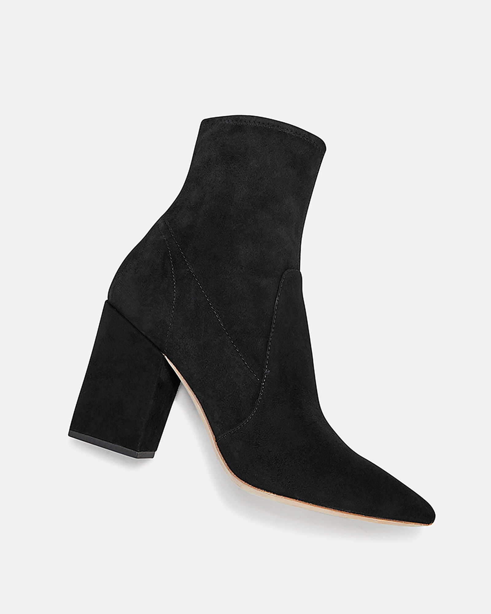 Isla Suede Booties, BLACK, hi-res