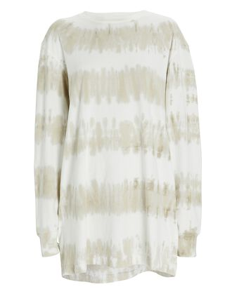 Dean Tie-Dye T-Shirt Dress, LIGHT GREEN/WHITE, hi-res