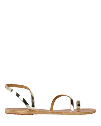 Eleftheria Leather Sandals, GOLD, hi-res