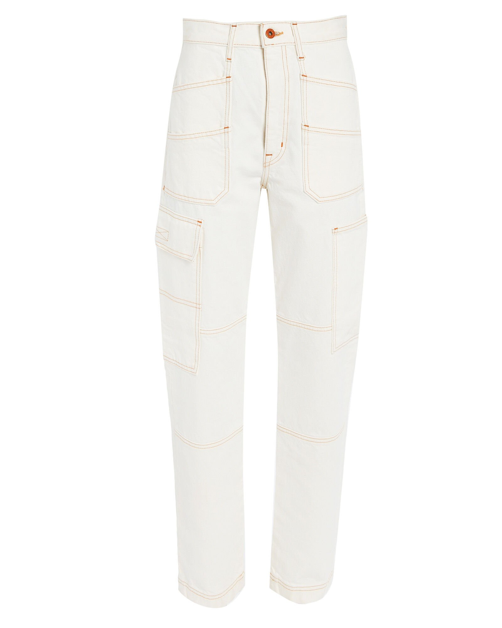Savior High-Rise Cargo Jeans, NATURAL WHITE, hi-res
