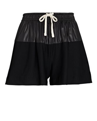 Telly Mesh-Trimmed Shorts, BLACK, hi-res