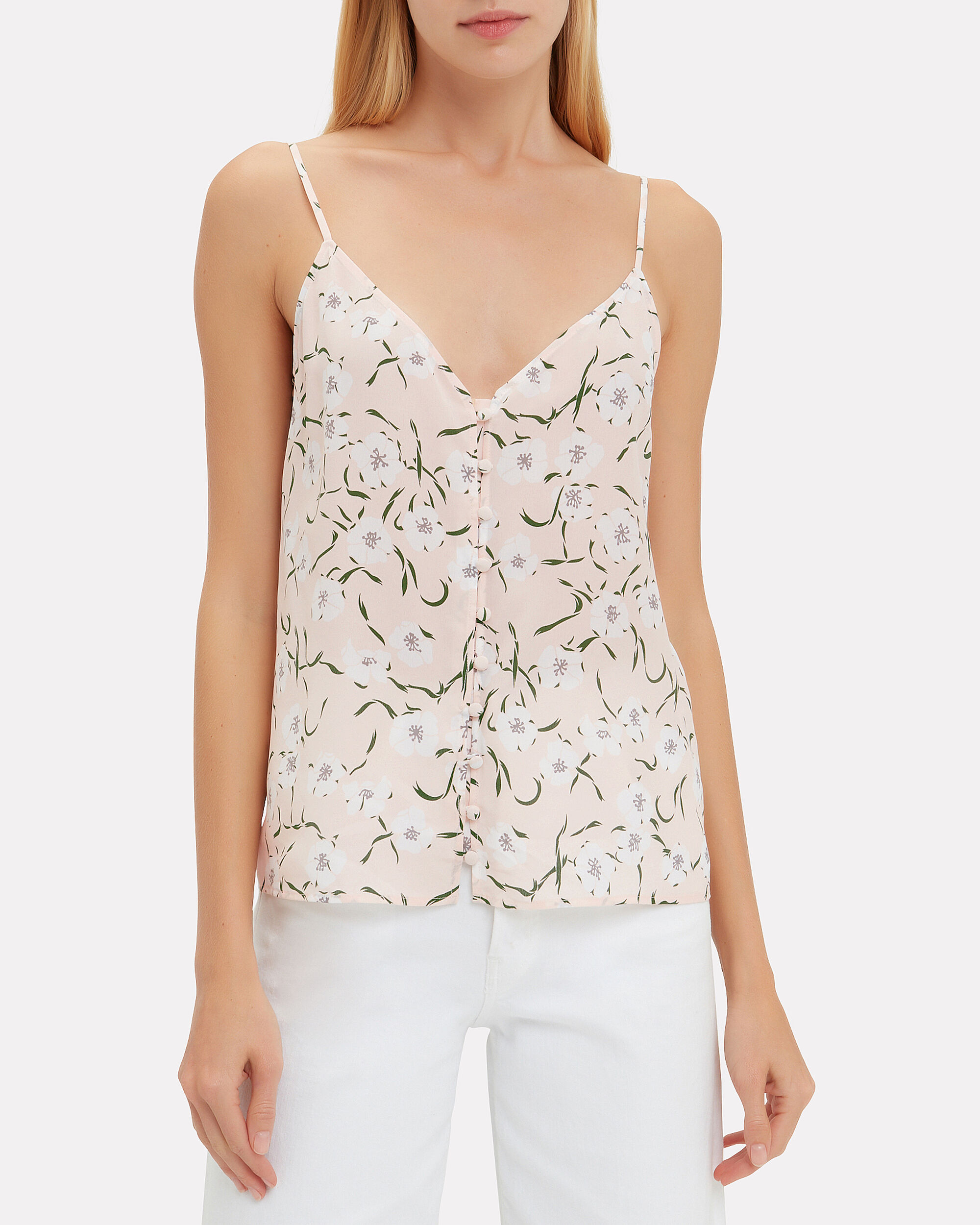 Ines Floral Cami, PINK/WHITE FLORAL, hi-res