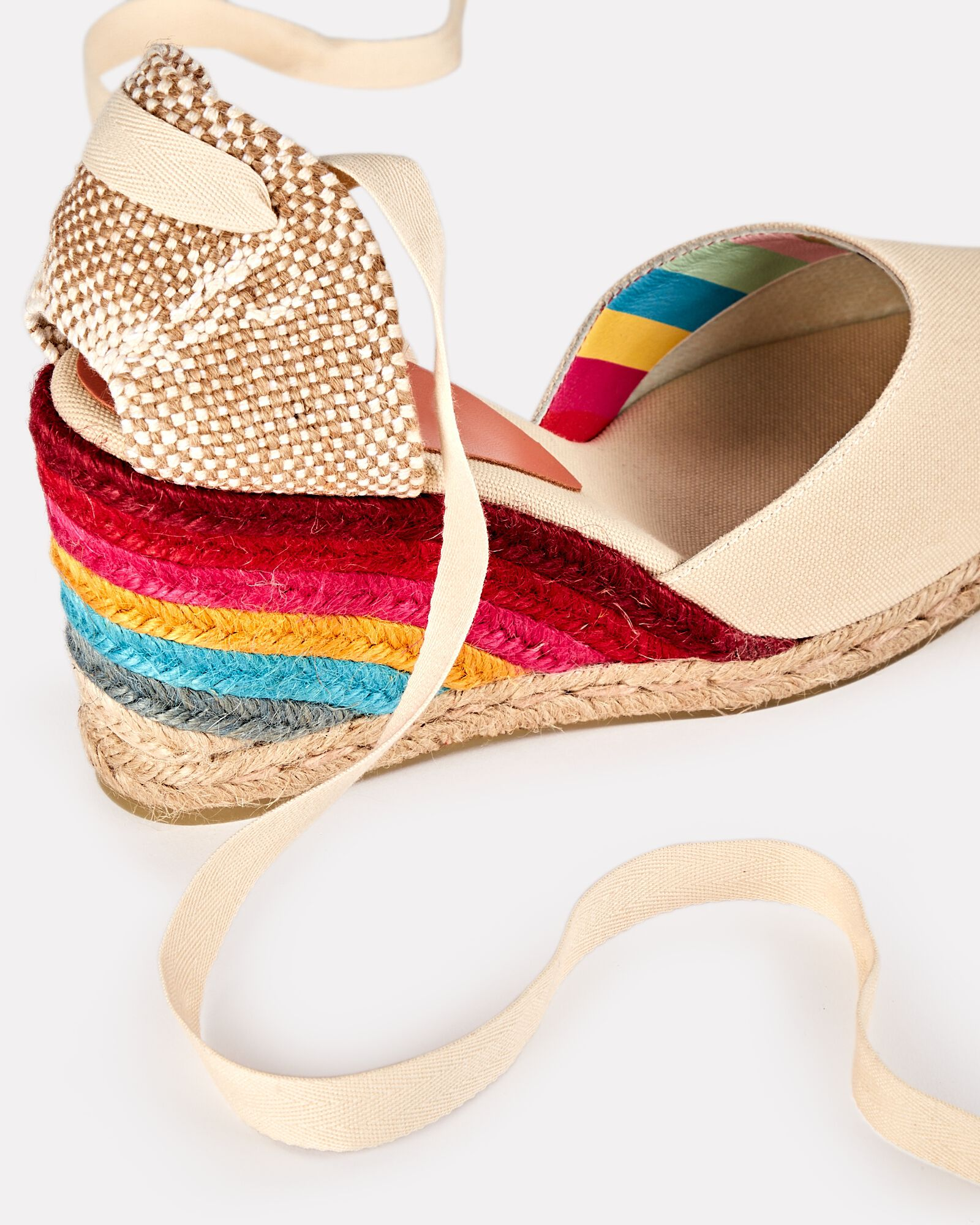 Carina 90 Rainbow Espadrille Wedges, RAINBOW, hi-res