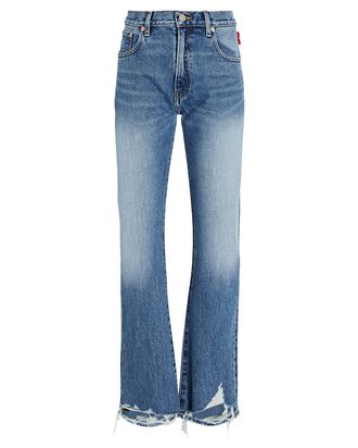 Joni Distressed Straight-Leg Jeans, MOTE, hi-res