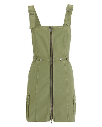 Crypt Pinafore Dress, OLIVE/ARMY, hi-res