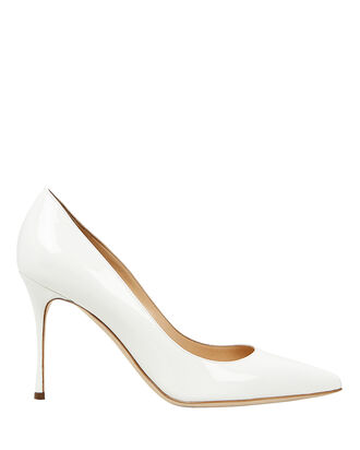 Godiva Patent Leather Pumps, WHITE, hi-res