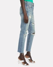 Karolina High-Rise Slashed Jeans, DENIM, hi-res