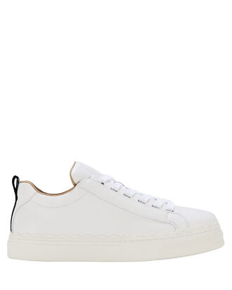 Lauren Low-Top Leather Sneakers, WHITE, hi-res