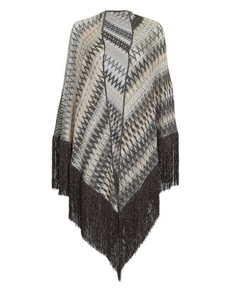 White Metallic Dark Shawl, MULTI, hi-res