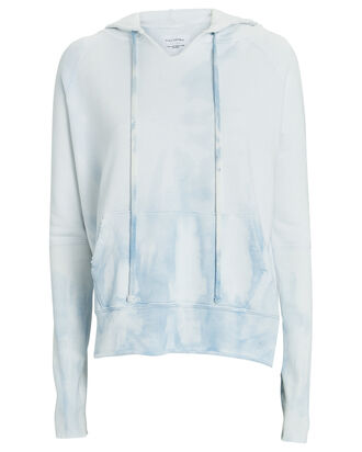 Janie Hooded Cotton Sweatshirt, WHITE/BLUE, hi-res
