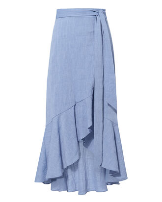 Katie Wrap Skirt, DENIM-LT, hi-res