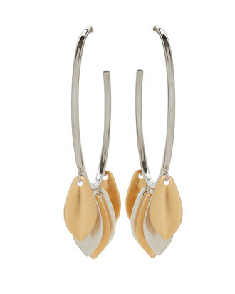 El Condor Fringe Hoop Earrings, GOLD/SILVER, hi-res