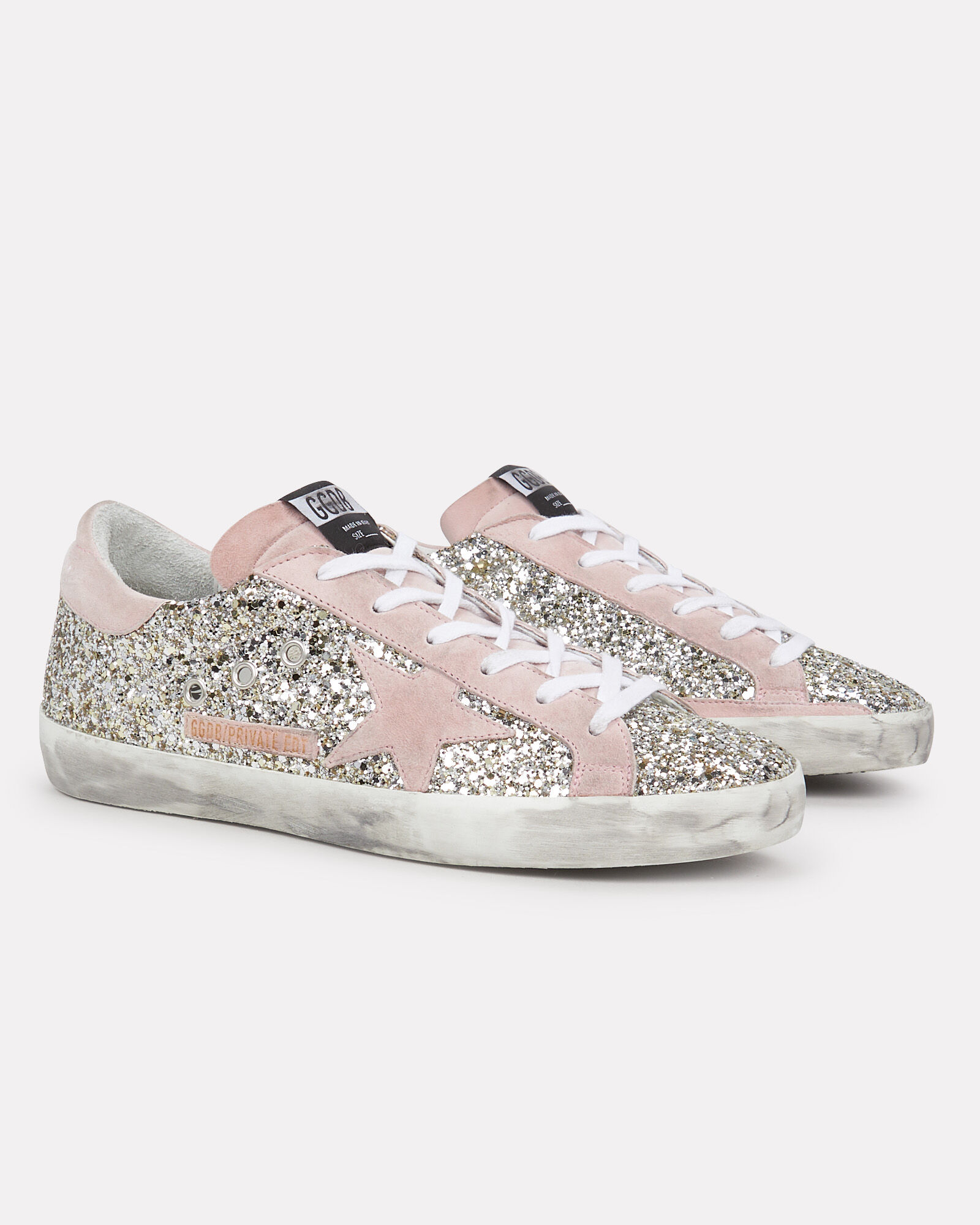 Superstar Glitter Low-Top Sneakers, SILVER/BLUSH, hi-res