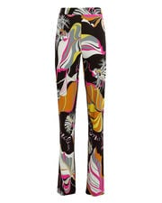 Leaves Printed Pants, BLACK/ABSTRACT PRINT, hi-res