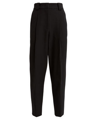 Collin High-Rise Pintuck Trousers, BLACK, hi-res