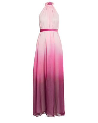 Ombré Halter Maxi Dress, PINK, hi-res