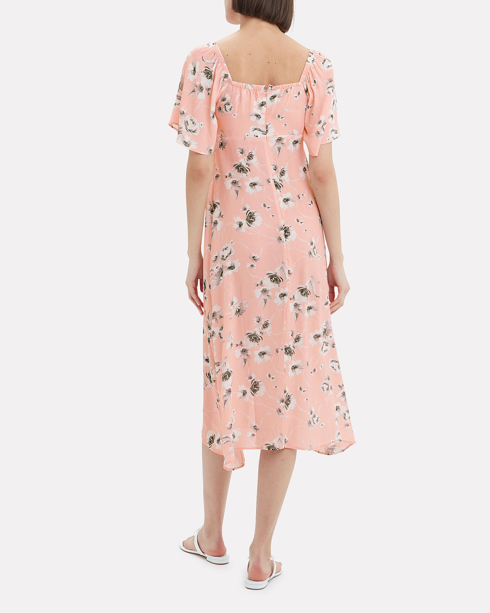 Tasha Midi Dress, BLUSH/FLORAL, hi-res