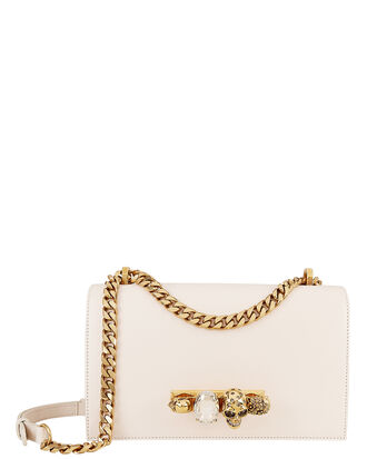 Knuckle Shoulder Bag, WHITE, hi-res