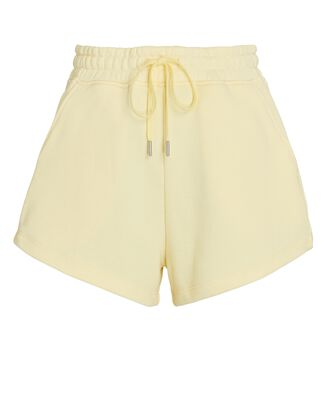 Evie Terry Sweat Shorts, YELLOW, hi-res