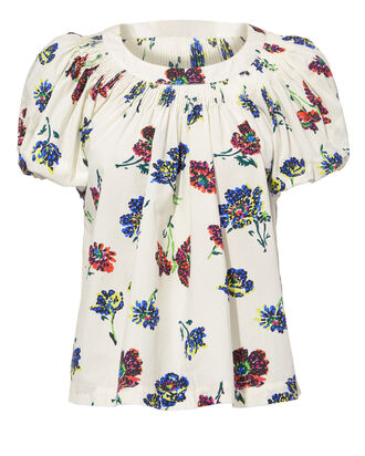 Celie Floral Top, MULTI, hi-res