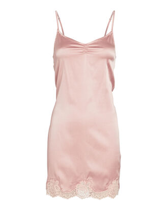 James Lace-Trimmed Silk Slip Dress, PINK, hi-res