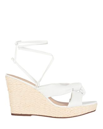 Reilly Leather Wedge Sandals, WHITE, hi-res