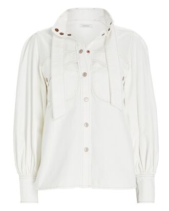 Vintage White Denim Shirt, VINTAGE WHITE, hi-res