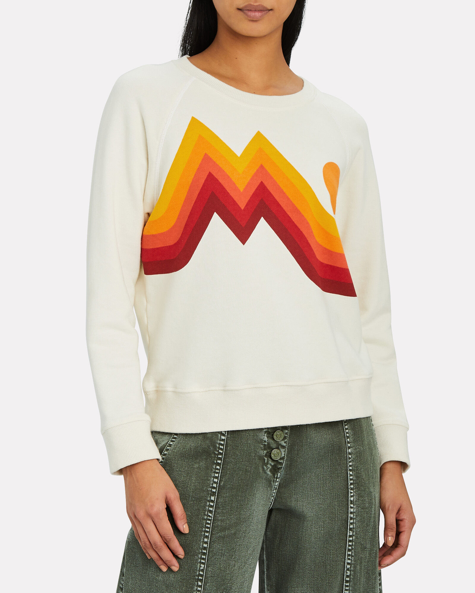 The Square Over Mountain Sweatshirt, IVORY, hi-res