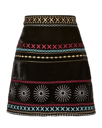 Liya Mini Skirt, PRINT, hi-res