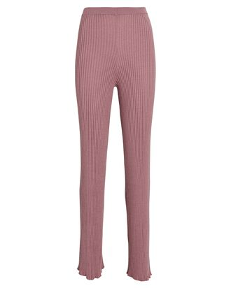 Jordan Cashmere Rib Knit Pants, ROSE, hi-res