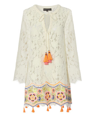 Aurora Embroidered Lace Dress, WHITE, hi-res