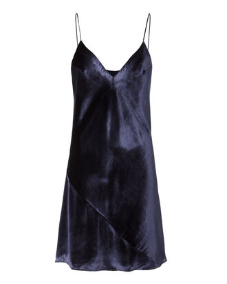 Velvet Slip Dress, NAVY, hi-res