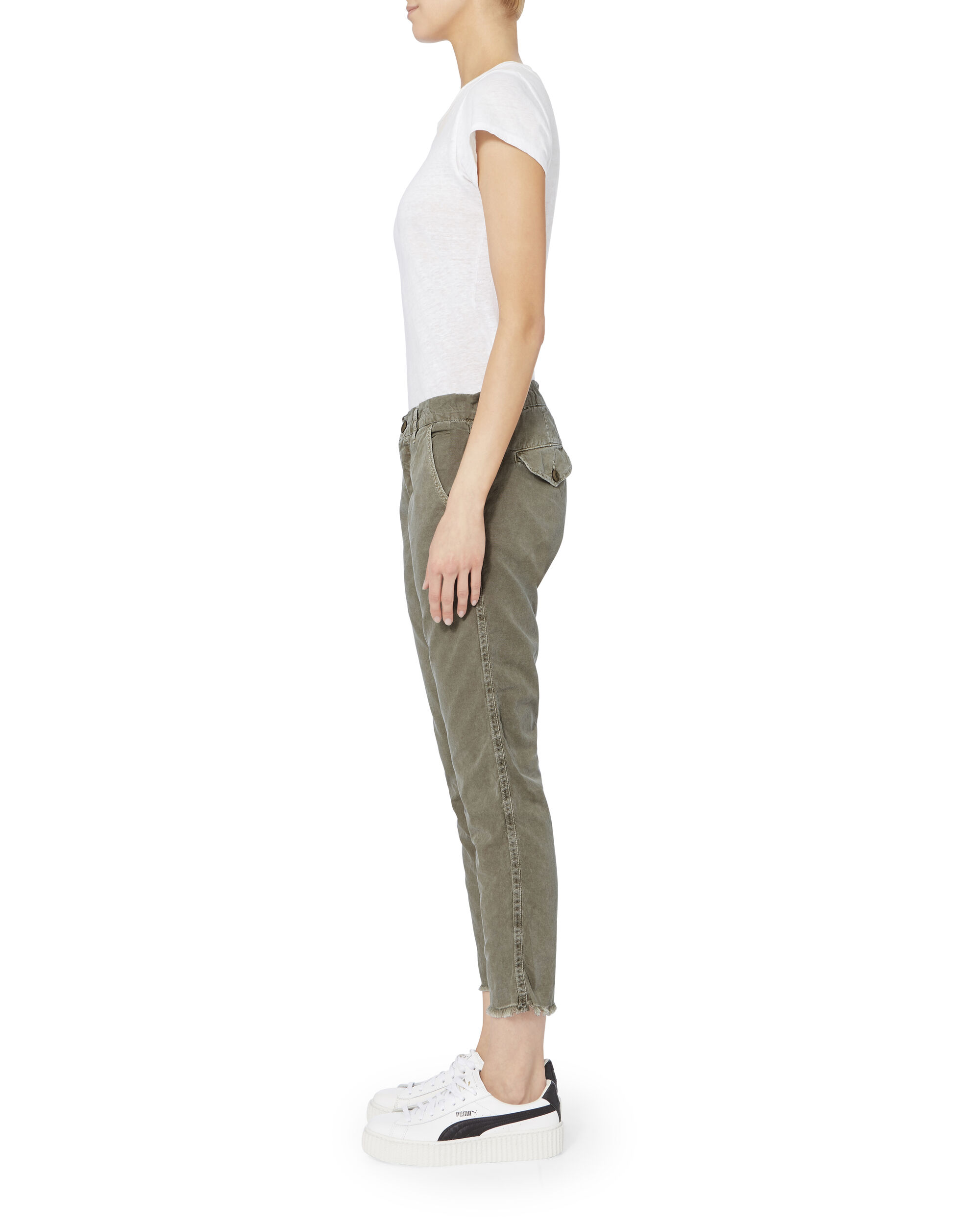 Colonial Raw Hem Pants, OLIVE/ARMY, hi-res