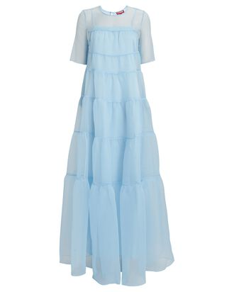 Hyacinth Tiered Organza Dress, LIGHT BLUE, hi-res
