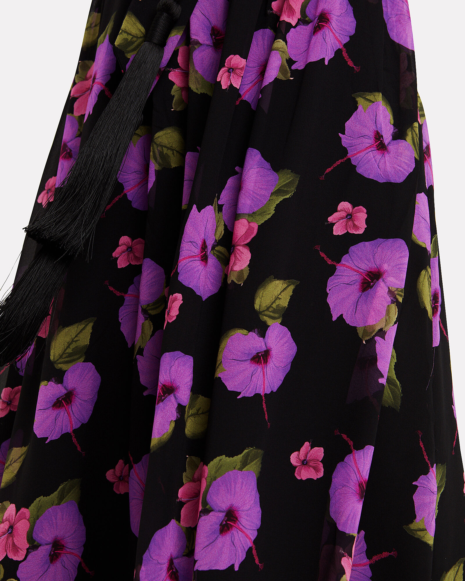 Isabeau One Shoulder Hibiscus Gown, BLACK/HIBISCUS, hi-res