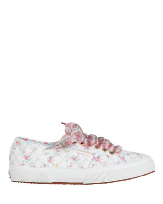 Superga x LoveShackFancy Floral Canvas Platform Sneakers, PINK, hi-res