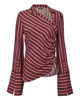 Wyatt Striped Top, RED-DRK, hi-res
