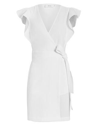 Sidelle Wrap Dress, WHITE, hi-res