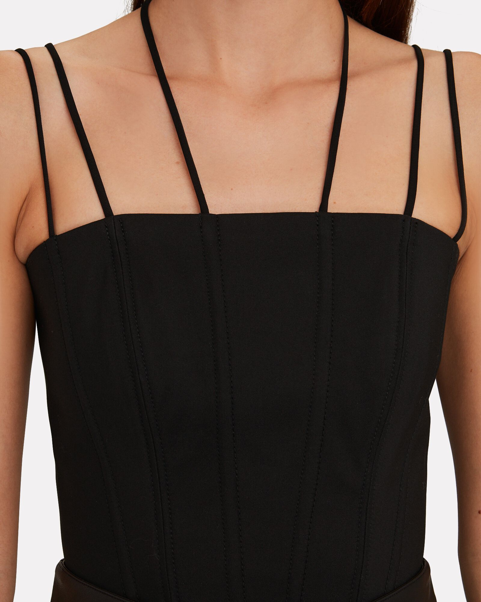 Rouleau Suspended Corset Top, BLACK, hi-res